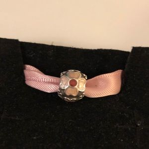 Pandora retired pink flower bead